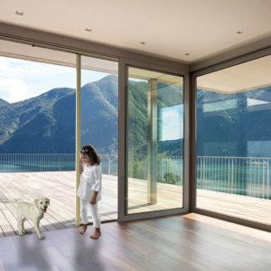 Pour porte-fenêtre / baie vitrée